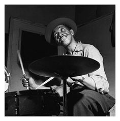 Jazz Drummer Philly Joe Jones 1953 Hackensac, New Jersey photo by Francis Wolff