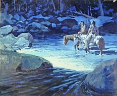 Hank Ford's painting Native American Paintings, Indian Paintings, Le Far West, Western Art, Nativity, Westerns, History, Christmas Nativity, Historia