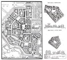 Leon Krier's sketches of a mixed-use quarter of Poundbury.