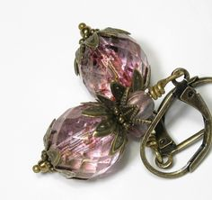 Pink Luster Czech Glass Vintage Style Earrings from jewelry by NaLa http://www.etsy.com/listing/65934930/vintage-style-jewelry-vintage-style