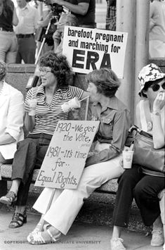Women at a rally in support of the Equal Rights Amendment in Detroit's Kennedy Square, June 30, 1981.