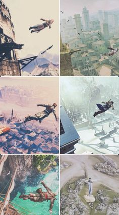 Assassin's Creed I can fly! Assasins Cred, Assassin's Creed I, Tomb Raider Game, Infamous Second Son, Assassins Creed Series, Ghost Busters, Leap Of Faith, Pirates Of The Caribbean, Skyrim