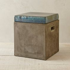 Glazed Top Concrete Stool