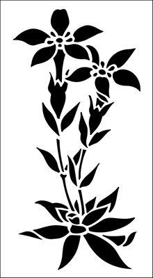 Gentian stencil from The Stencil Library GARDEN ROOM range. Buy stencils online. Stencil code GR29.
