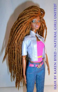 If I had one of these as a kid....life would have been soo different! ;-) Natural hair black barbie- I WANT ONE!!!!