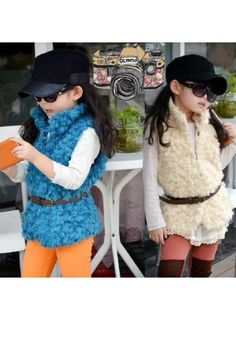www.yeoldparty.com Fab Faux Fur Vest for girls $28.00!!