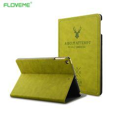 Inteligentne budzenie leather case dla ipad pro 9.7 dla ipad air 1 2 luksusowe pokrywa deer style odwróć stań ochronna case dla ipad pro air 12