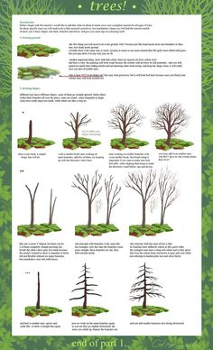 Drawing Trees Tutorial (part by calisto-lynn Drawing Lessons, Drawing Techniques, Art Lessons, Watercolor Techniques, Painting Tips, Painting & Drawing, Drawing Trees, Zentangle, Realistic Drawings