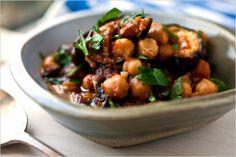 Eggplant Chickpea Stew #dinner #pomegranate_molasses #veggies