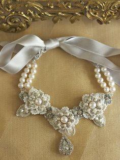 Precious necklace #pearls #bow