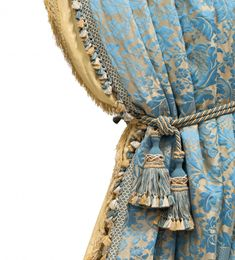 Damask Curtains, Luxury Curtains, Curtain Fabric, Fabric Decor, Burlap Curtains, Curtain Rods, French Rococo, Rococo Style, Curtain Patterns