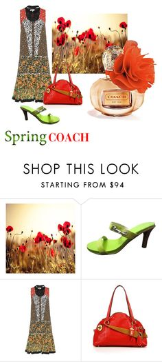 """Spring Coach -- Poppy"" by fernshadow ❤ liked on Polyvore featuring beauty, Coach and Coach 1941"