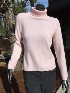 Women's Cashmere By Charter Club Petite Medium 2 Ply Pink Turtleneck Sweater   | eBay