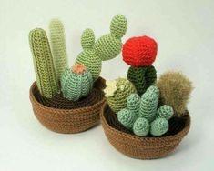 Beautiful works of art. Crochet cacti