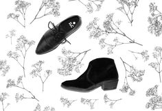 Fashion must haves! zwarte suede en leren enkel laarzen van ILC SHOES. www.ilc-shoes.com