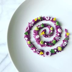 Organic purple cabbage slaw with romanesco, radish microgreens, red onion, dill, chive blossoms, and lemon aioli. #cooking #organicfood #healthyeating #nutrition #farmtotable #microgreens #edibleflowers #redcabbage #vegan #salad #romanesco #paleo #theartofplating #gastroart #foodie #foodporn #foodphotography #instafood #foodstyling #chiveblossoms #dill #purplecabbage #healthyfood #cabbage #slaw #pne #seattle #chiveblossom