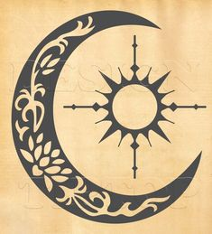 35 Trendy Tattoo Moon And Sun Silhouette Tribal Tattoos, Cool Tattoos, Sun Tattoos, Tatoos, Tattoo Sol E Lua, Luna Tribal, Tribal Sun, Sun Silhouette, Silhouette Studio
