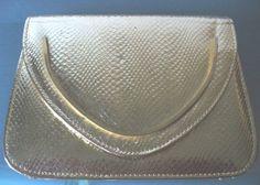 Vintage Walborg Gold SnakeSkin Embossed Leather by TheOldBagOnline, $34.99