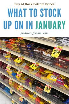 Have you wondered what to stock up on in January? I started this series because Im hoping there will be one or two items that you can pick up on sale. Emergency Survival Kit, Emergency Preparation, Emergency Food, Survival Shelter, Survival Food, Survival Prepping, Survival Skills, Homestead Survival, Frugal Living Tips