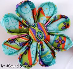 Fabric Flowers Tutorial Site by MakeBowsandMore.com