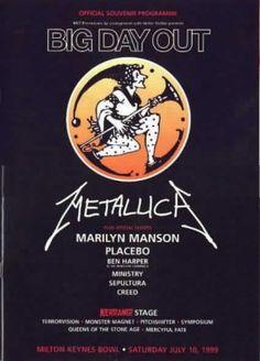 Metallica, Marilyn Manson, Placebo, Ben Harper, Minsitry, Sepultura, Creed