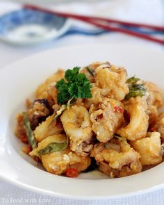 Salted Egg Yolk Crispy Squid