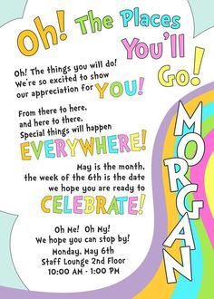 Oh! The Places You'll Go Staff Appreciation Party Ideas   Photo 8 of 12   Catch My Party