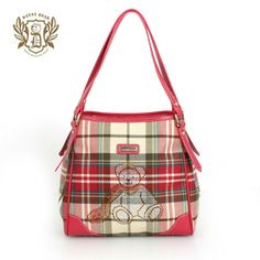 2013 Latest Fashion Handbag Red Plaid Pattern Designer Handbags Wholesale