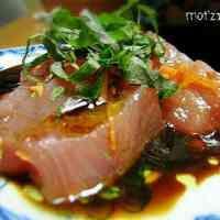 鮪のカルパッチョ☆バルサミコ醤油ソース