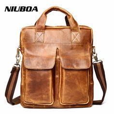 f397f65ac1 Dopobo® Men s Shoulder Bag - Genuine Cow Leather Fashion Shoulder Handbag  Satchel Cross Body Bag