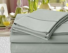 Addy Home Hotel Collection Luxury 1000 Thread Count 100% Egyptian Cotton Sateen Weave Deep Pocket Sheet Set, (King, Silver) Looking bedroom remodel ideas?  http://aluxurybed.com/product/addy-home-hotel-collection-luxury-1000-thread-count-100-egyptian-cotton-sateen-weave-deep-pocket-sheet-set-king-silver/