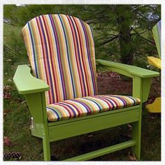 making your own adirondack chairs | Make your own Adirondack Chair cushions made from ...