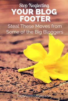 Don't keep your blog footer irrelevant. Check out these ways the big bloggers are killing their footer.