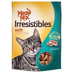 Meow Mix Irresistibles Crunchy Cat Treats with Real White Meat Salmon and Ocean Whitefish , 6 oz. by Meow Mix ** Visit the image link more details. (This is an affiliate link and I receive a commission for the sales) Salmon Cat, Chicken Cat, Chicken Treats, Cat Id Tags, Cat Shedding, Cat Fleas, Cat Accessories, Meat Chickens, White Meat