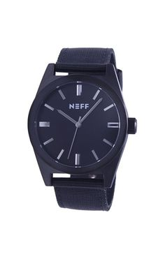 Neff Nightly Watch Black/Black Adjustable Band Water Resistant  #Neff #Fashion