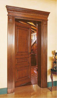 Wooden Front Door Design, Double Door Design, Door Gate Design, Wooden Front Doors, Interior Window Trim, Door Design Interior, Home Design Decor, Home Decor, Single Main Door Designs