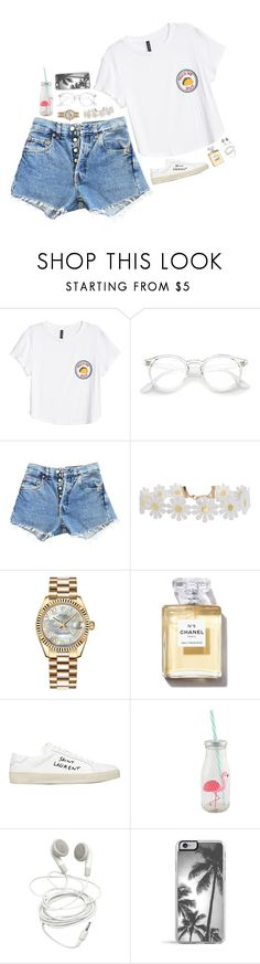 """Sem título #1273"" by dipx1d ❤ liked on Polyvore featuring H&M, Levi's, Humble Chic, Rolex and Yves Saint Laurent"