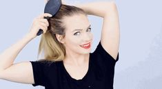 Next, gather your hair into a ponytail, stick one bobby pin into one side of the ponytail, and wrap the hair tie around a few times. Secure the second bobby pin in place. | This Will Actually Teach You How To Curl Your Hair In 5 Minutes