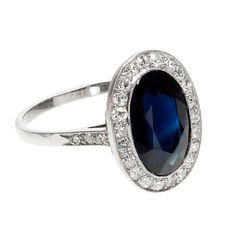 Pretty sapphire and diamond ring