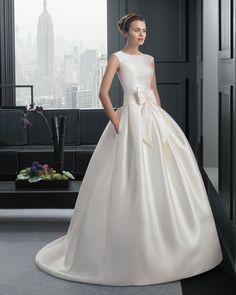 Dathybridal ビンテージ ラウンドネック ホール #ボールガウン 花嫁のドレス #ウェディングドレス Hro0149
