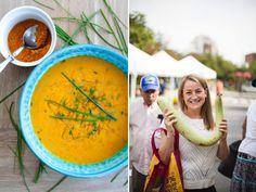 Curried Pumpkin & Pear paleo soup for the perfect Thanksgiving side dish on Frisch Kitchen!