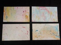 Make your own marbled paper :)