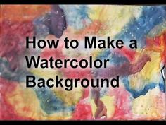 How to Make a Watercolor Background - YouTube