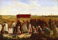 The Blessing of the Wheat in Artois (study) - Breton Jules