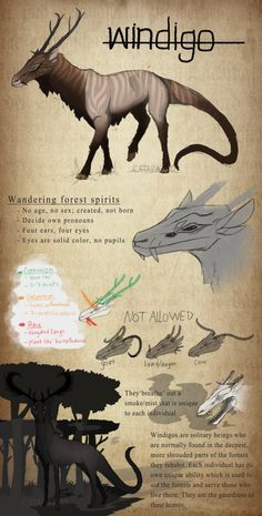 Windigo Species Ref -part 1- by katxicon.deviantart.com on @DeviantArt