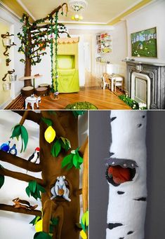 Kid's room #forest #baby  http://www.jentalbot.com/portfolio/winter-birch-tree/