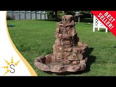 This stone springs LED lighted fountain will be a stylish display in any outdoor space and is especially beautiful at night. Garden Water Fountains, Water Garden, Backyard Landscaping, Landscaping Ideas, Backyard Ideas, Solar Powered Fountain Pump, Outdoor Waterfalls, Waterfall Features, Led Rope Lights