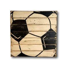 Soccer Sign / Vintage Wood Sports Sign / Boys Bedroom Decor / Vintage Soccer…