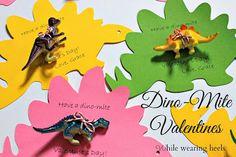 No Candy Valentine's Option.  While Wearing Heels: Dino-Mite Valentine's. #dinosaurs