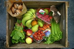 The Food Box Project distributes boxes of organic fruits and vegetables to people in the community Photo courtesy of Abby Hopson Organic Fruits And Vegetables, Food Box, Organic Recipes, Recipe Box, Boxes, Community, People, Crates, Box